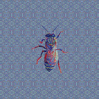 Digital Art - Worker Honey Bee 02 by Diego Taborda