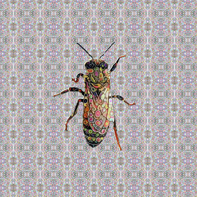 Digital Art - Worker Honey Bee 03  by Diego Taborda