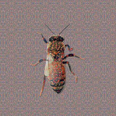 Digital Art - Worker Honey Bee 04 by Diego Taborda