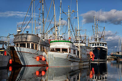 Photograph - Working Boats by Randy Hall