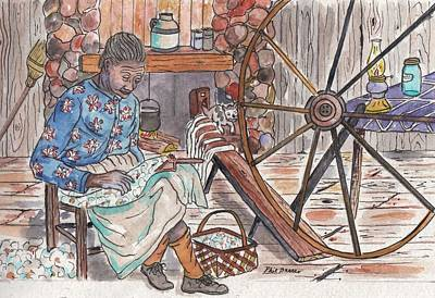 Painting - Working Cotton The Old Fashioned Way by Philip Bracco