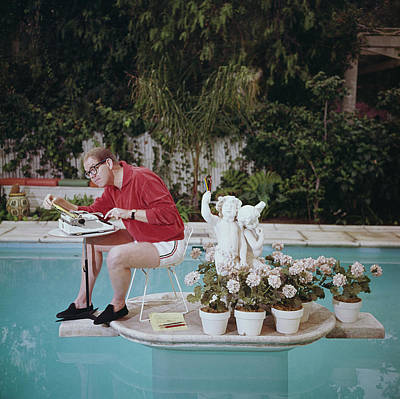 Satire Wall Art - Photograph - Working On Water by Slim Aarons