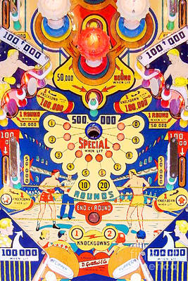 Photograph - World Champ Pinball Machine Penny Arcade Nostalgia 20181225 V2 by Wingsdomain Art and Photography