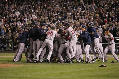 Photograph - World Series Boston Red Sox V Colorado by Rich Pilling