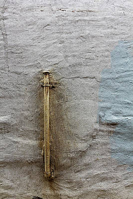 Photograph - Worn Concrete Wall And Pipe by Robert Ullmann