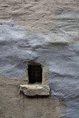 Photograph - Worn Concrete Wall And Window by Robert Ullmann