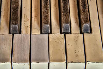 Photograph - Worn Piano Keys by Leland D Howard