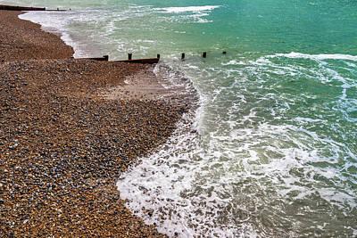 Wall Art - Photograph - Worthing Shoreline With Breakwater by Roslyn Wilkins