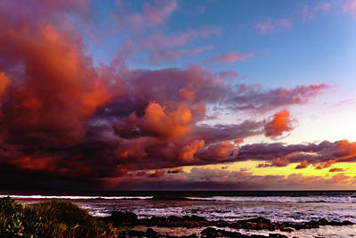 Photograph - Wow Clouds Over Sea by John Bauer
