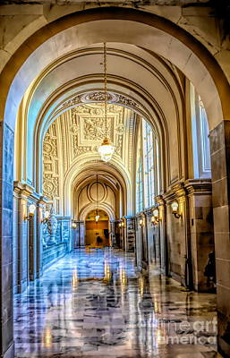 Photograph - Wow Hallway City Hall Sf  by Chuck Kuhn