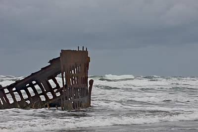 Photograph - Wreck On Orgeon Coast by Mark Duehmig