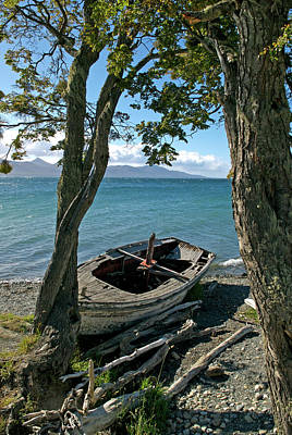 Photograph - Wrecked Boat Patagonia by Mark Duehmig