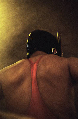 Photograph - Wrestler Wearing Mask, Rear View by Paul Taylor