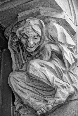 Photograph - Wretched Old Woman Gargoyle by Garry Gay