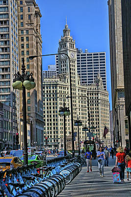 Up Up And Away - Wrigley Building # 2 - Chicago by Allen Beatty