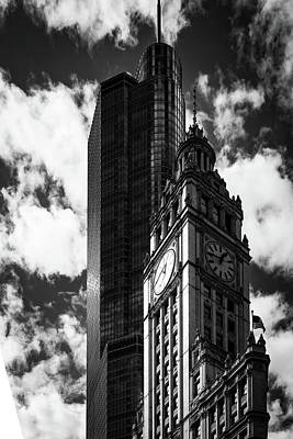 Photograph - Wrigley Trumped In Black And White by Framing Places