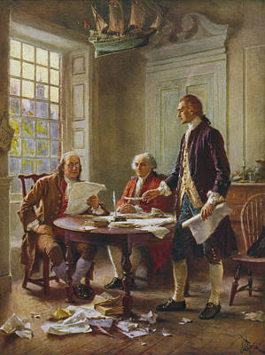 Fashion Paintings - Writing The Declaration of Independence by War Is Hell Store