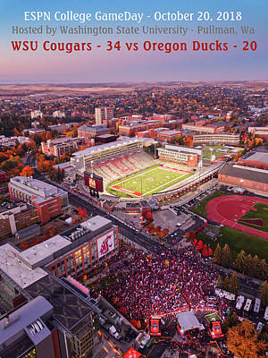 Photograph - Wsu Gameday 2018 by David Patterson
