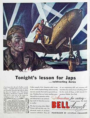 Photograph - Wwii Bell Aircraft Ad by Kevin McCarthy