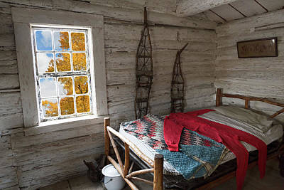 Photograph - Wyoming Bunk With Red Wool Long Johns by Kathleen Bishop