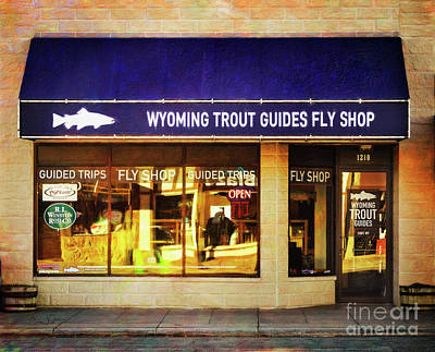 Photograph - Wyoming Trout Guides Fly Shop by Craig J Satterlee