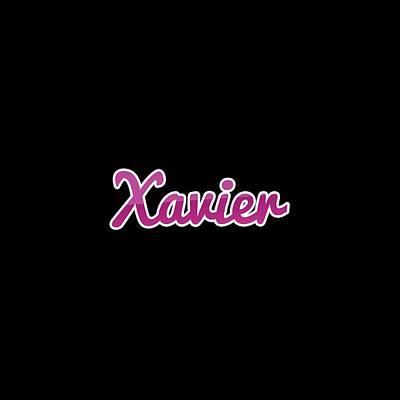 Digital Art - Xavier #xavier by Tinto Designs
