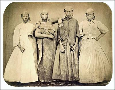 Painting - Xhosa Servants  1860 Kaffir Servants  Natives Of Natal South Africa  Salted Paper Print  by Celestial Images