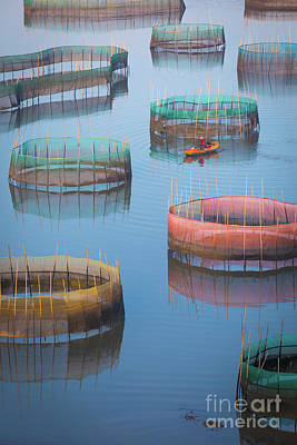 Photograph - Xiapu Colored Circles by Inge Johnsson