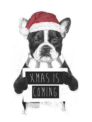 Funny Mixed Media - Xmas Is Coming by Balazs Solti