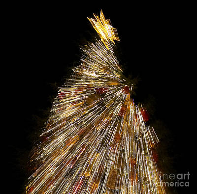 Photograph - Xmas Tree Motion Art by Iryna Liveoak