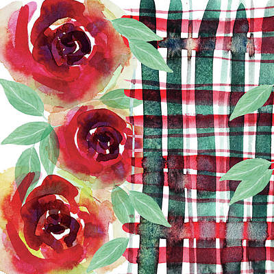 Painting - Xmas Watercolor Designs Collection 2018 By Mahsawatercolor .n1 by Mahsa Watercolor Artist