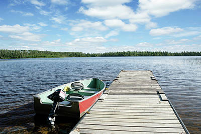 Recreational Boat Photograph - Xxl Fishing Boat And Lake by Sharply done
