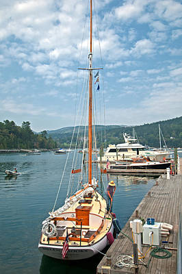 Photograph - Yacht Cleaning by Paul Mangold