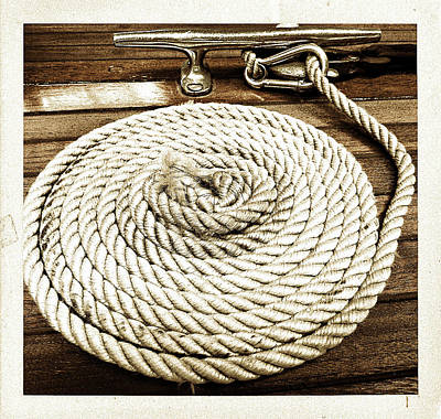 Photograph - Yacht Rope by Pete Hunt