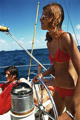 Sports Photograph - Yachting In The Caribbean by Slim Aarons