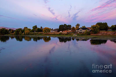 Photograph - Yakima River Pastel Morning by Mike Dawson