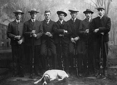 Photograph - Yale Rifle Team In Full Length Pose by Bettmann