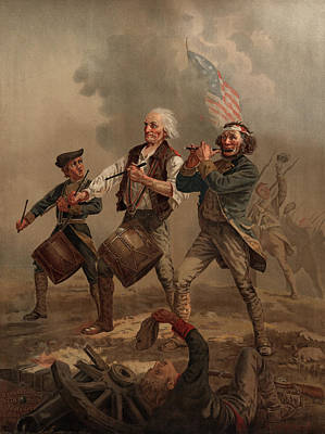 Anthem Wall Art - Painting - Yankee Doodle 1776 by Archibald Willard