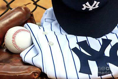 Photograph - Yankees Pinstripes Worn With Pride by John Rizzuto