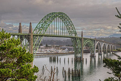 Photograph - Yaquina Bay Bridge by Matthew Irvin