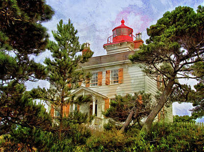 Photograph - Yaquina Bay Lighthouse Two by Thom Zehrfeld