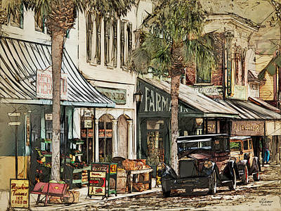 Vermeer Rights Managed Images - Ybor City Movie Set Royalty-Free Image by Jim Ziemer