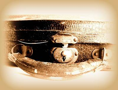 Photograph - Ye Olde Violin Case - Circa 1937 by VIVA Anderson