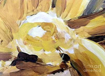 Painting - Yellow #4 by Maria Langgle