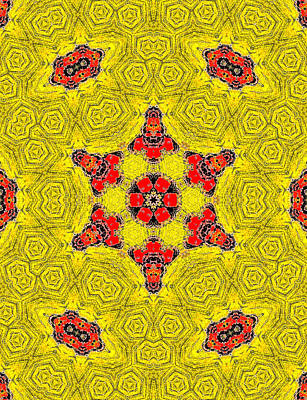 Painting - Yellow Abstract Pattern Painting 10 by Artist Dot