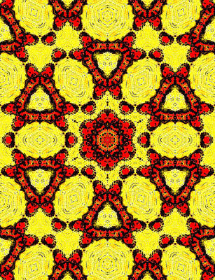 Painting - Yellow Abstract Pattern Painting 2 by Artist Dot