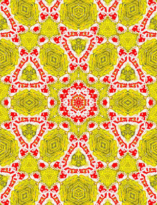 Painting - Yellow Abstract Pattern Painting 3 by Artist Dot