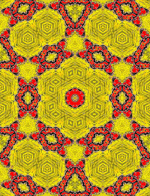Painting - Yellow Abstract Pattern Painting 5 by Artist Dot