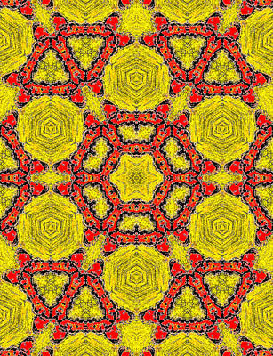 Painting - Yellow Abstract Pattern Painting 6 by Artist Dot
