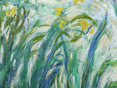 Painting - Yellow And Purple Irises, Detail by Claude Monet